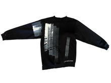 Load image into Gallery viewer, Graphic print distressed crewneck sweater