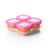 OXO Tot Baby Blocks Freezer Storage Containers 4oz - Pink (1)