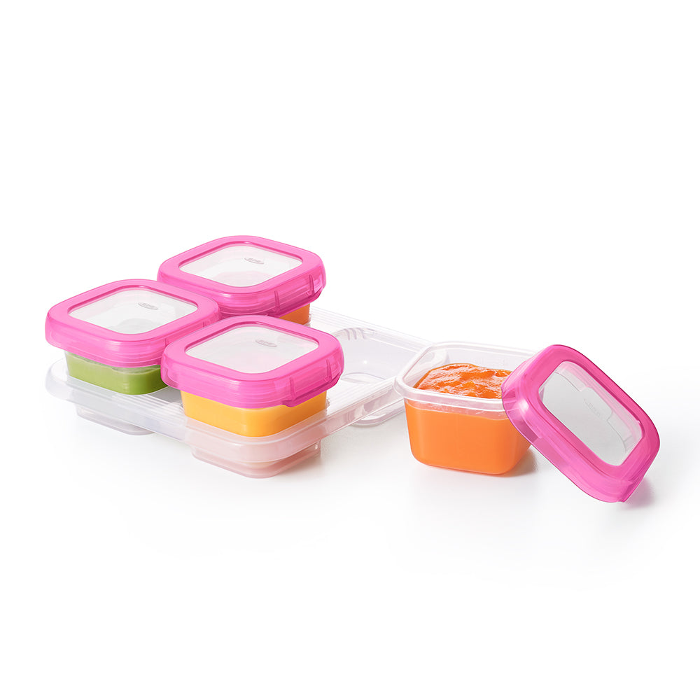 OXO Tot Baby Blocks Freezer Storage Containers 4oz - Pink (2)