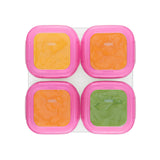 OXO Tot Baby Blocks Freezer Storage Containers 4oz - Pink (3)