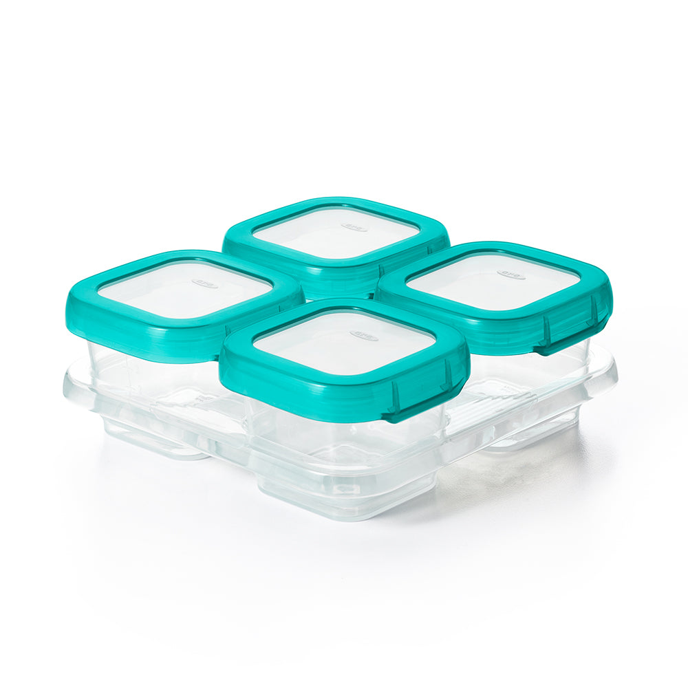 OXO Tot Baby Blocks Freezer Storage Containers 4oz - Teal