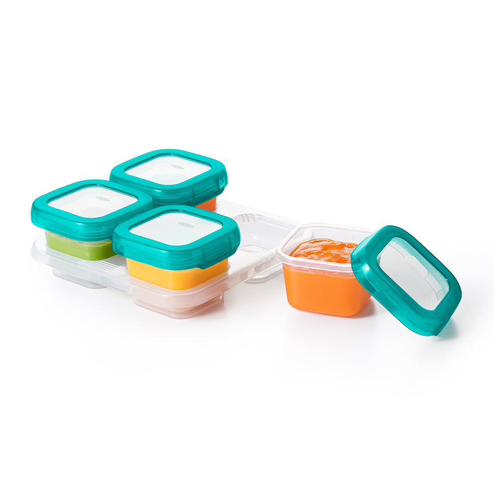 OXO Tot Baby Blocks Freezer Storage Containers 4oz - Teal (1)