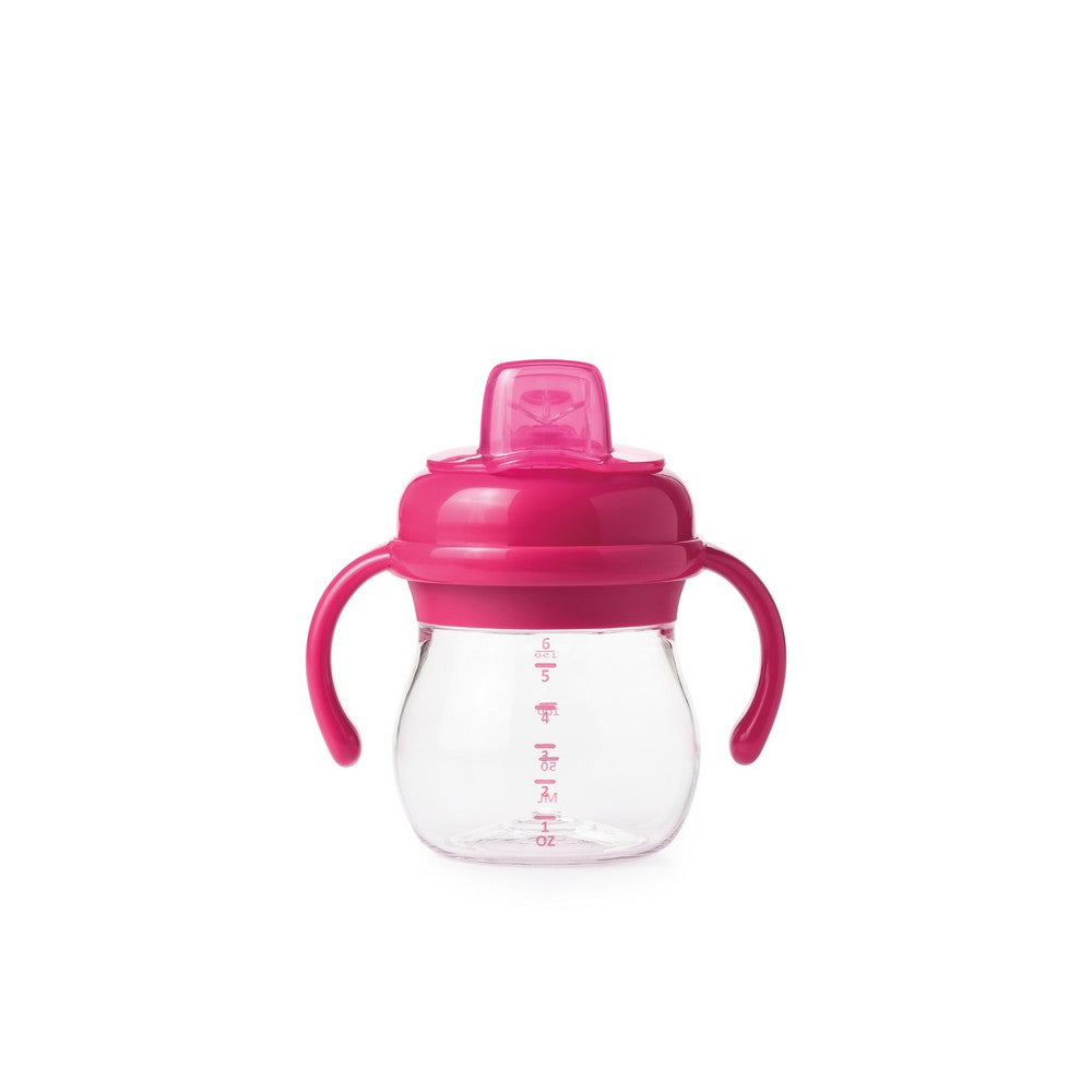 OXO Tot Grow Soft Spout Sippy Cup With Removable Handles - Pink (2)