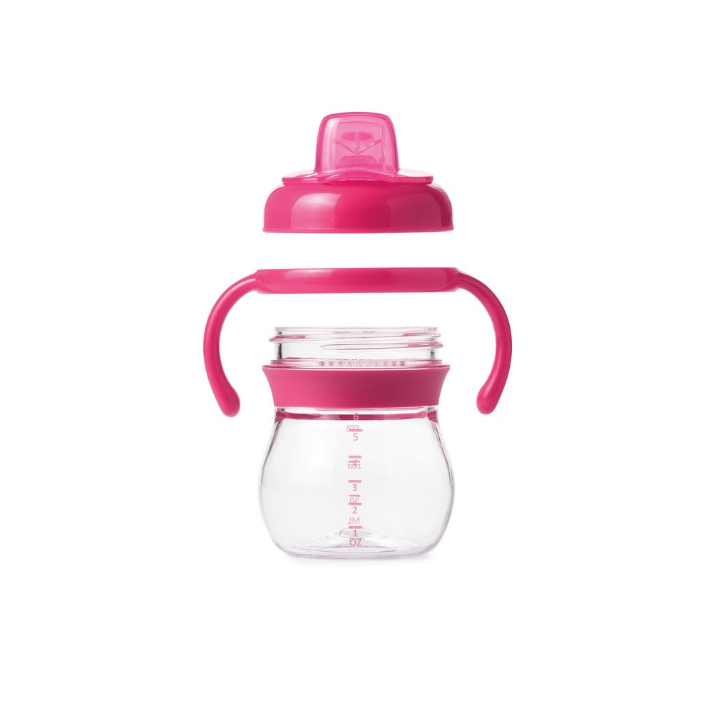 OXO Tot Grow Soft Spout Sippy Cup With Removable Handles - Pink (3)