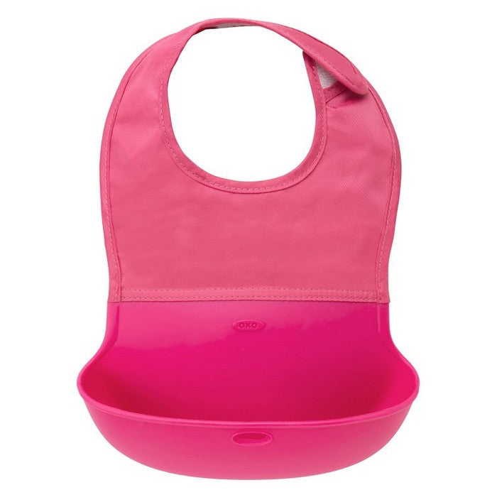 OXO Tot Roll-Up Bib - Pink