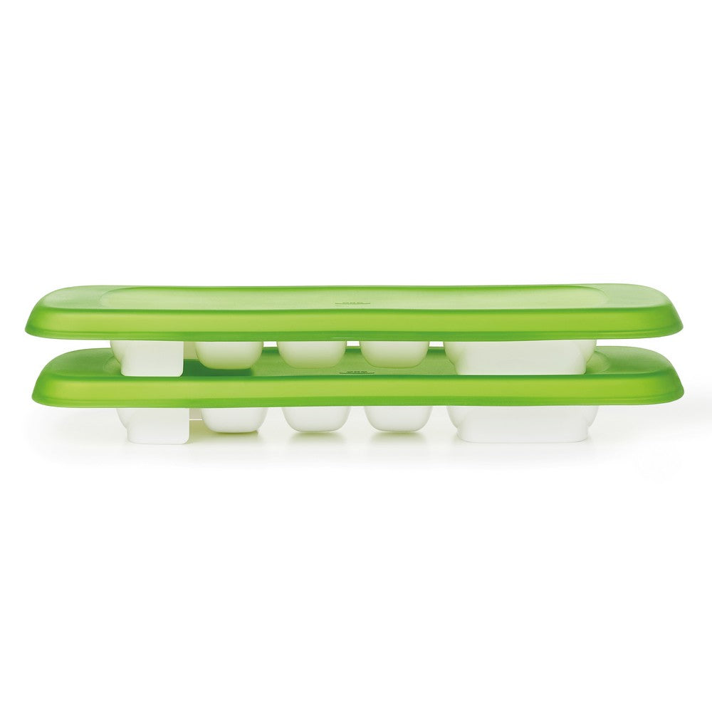 OXO Tot Baby Food Freezer Tray With Silicone Lid - Green (2)
