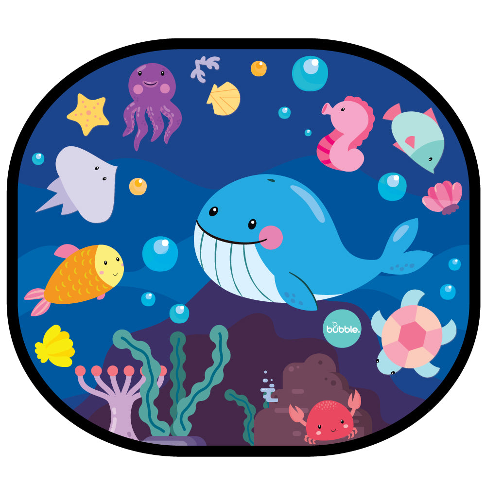 Bubble Cling Sunshade - Under the Sea (2pcs)