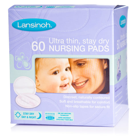 Lansinoh Ultra Thin, Stay Dry Nursing Pad - 60 pcs