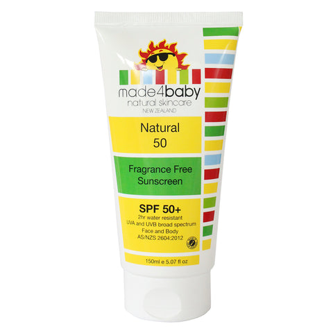 Made4Baby Natural Sunscreen SPF 50+ (Fragrance Free)