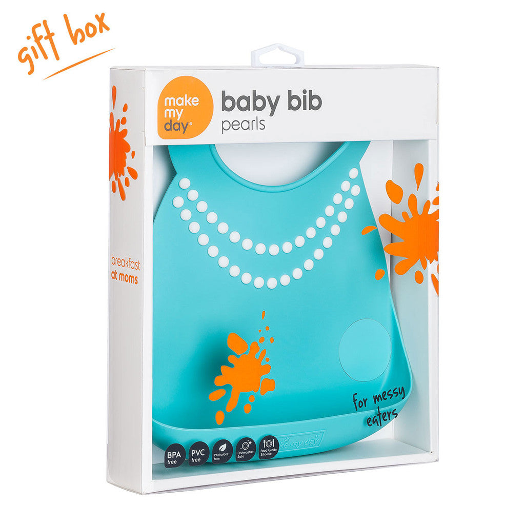 Make My Day Baby Bib - Pearl (2)