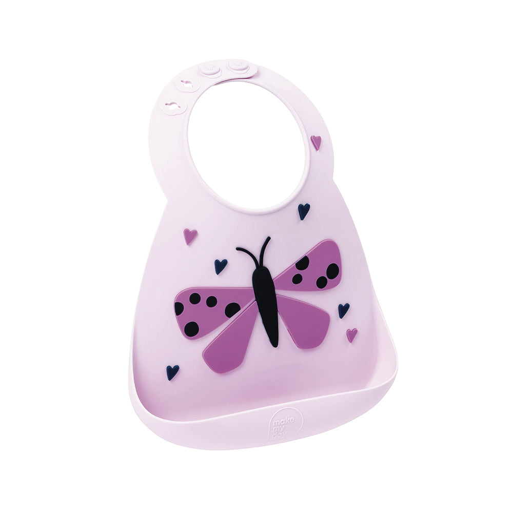 Make My Day Baby Bib - Butterfly