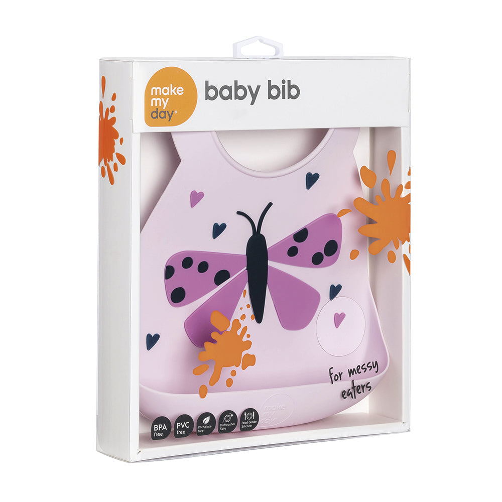 Make My Day Baby Bib - Butterfly (1)