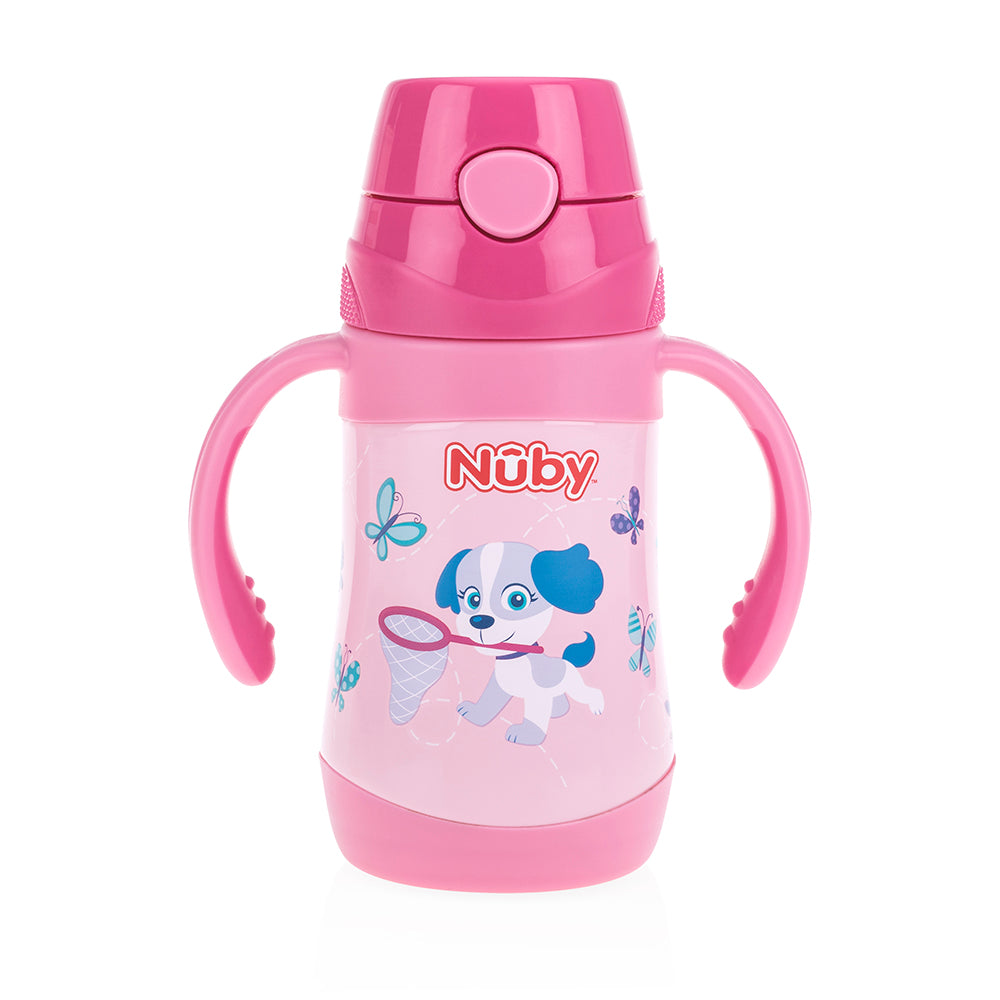 Nuby Stainless Steel Click-it Flip-It Cup - Not My Little Puppy