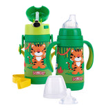 Nuby 3-in-1 Stainless Steel Feeding Cup/Bottle - Green