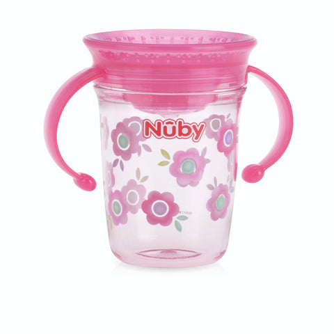 Nuby 360 Wonder Cup with Twin Handles - Pink