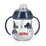 Nuby Tritan Clik-it Grip N' Sip Combo Trainer Cup - Dark Blue