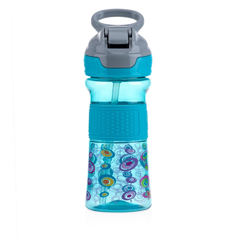 Nuby Soft Spout On the Go Sports Bottle with Push Button - Aqua