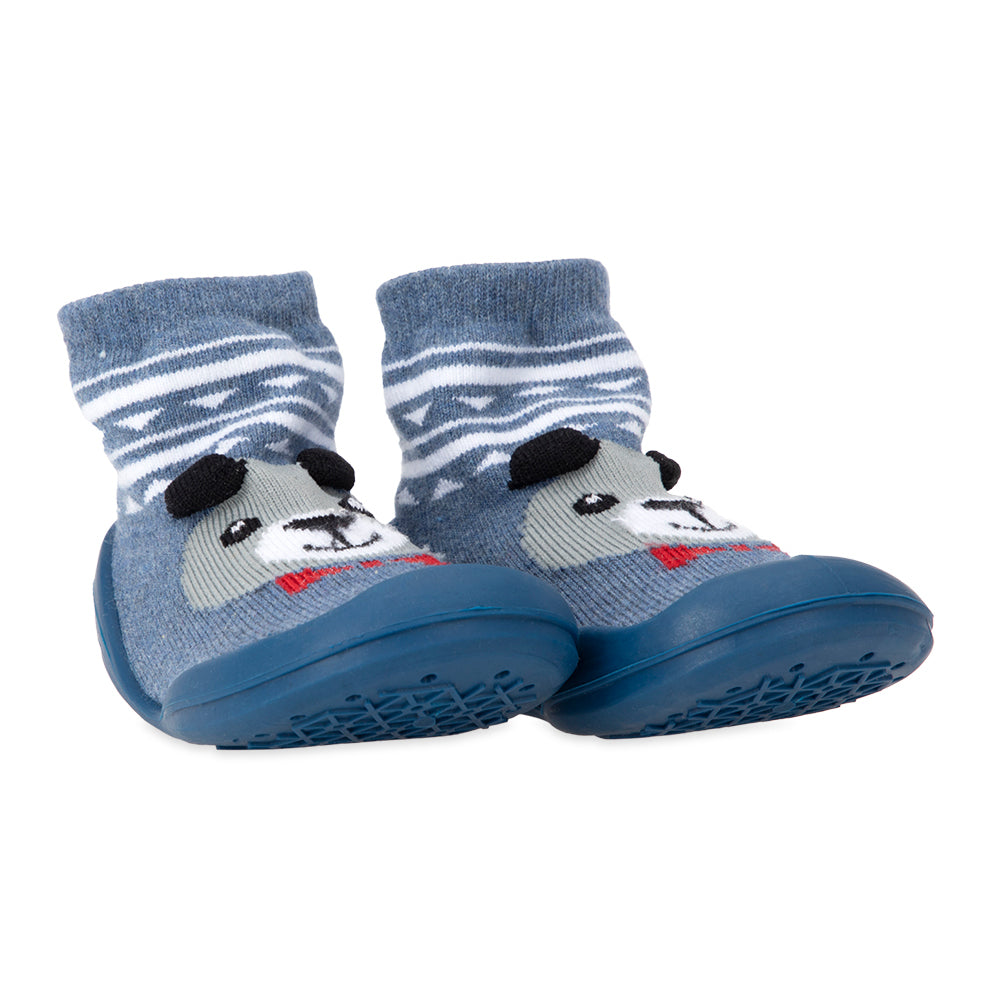 Nuby Snekz Sock & Shoe Medium - Blue Bear