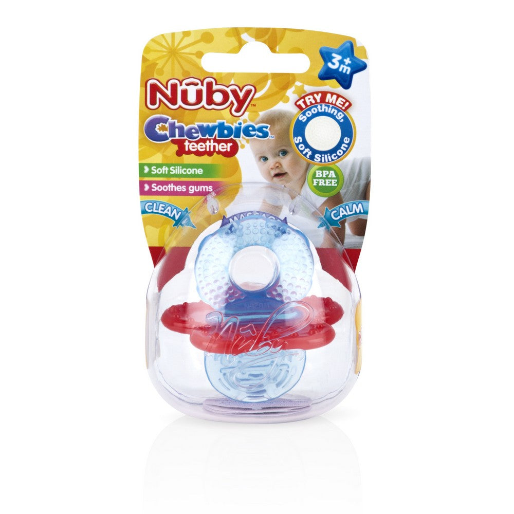 Nuby Chewbies Teether - Blue/Red (5)