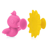 Nuby Silly Suction Hummingbird and Flower - Yellow & Pink