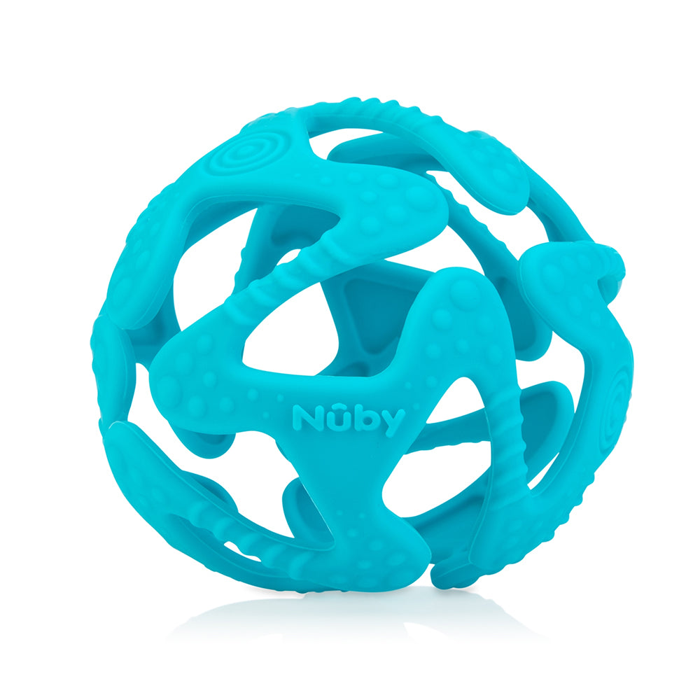 Nuby Tuggy Teething Ball - Aqua