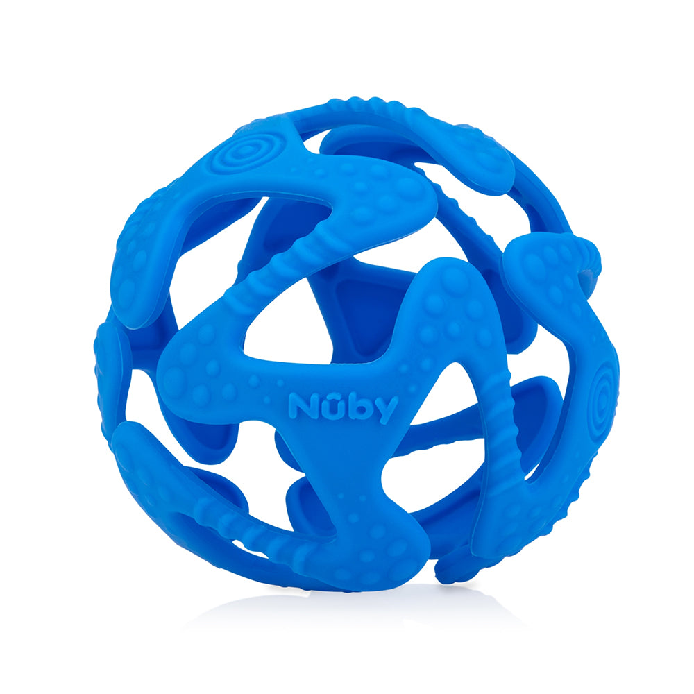 Nuby Tuggy Teething Ball - Blue