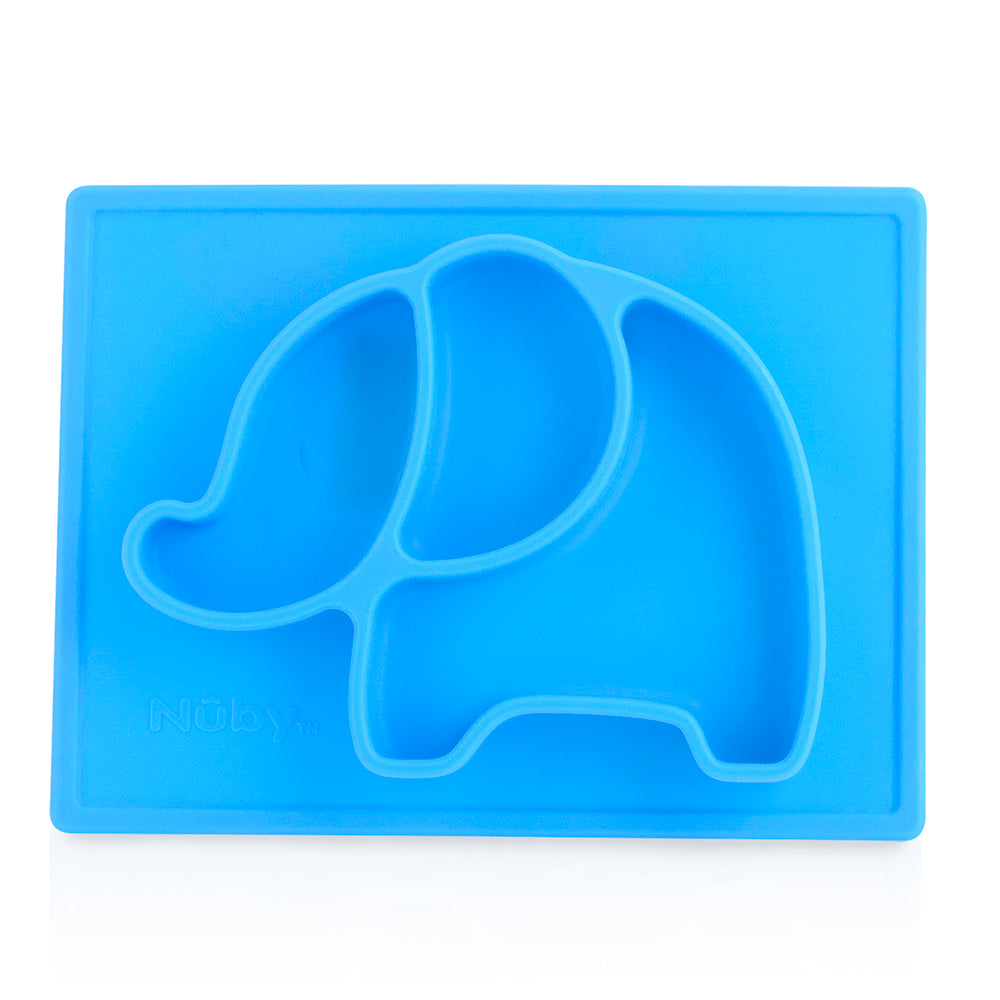 Nuby Sure Grip Miracle Mat Section Plate - Elephant