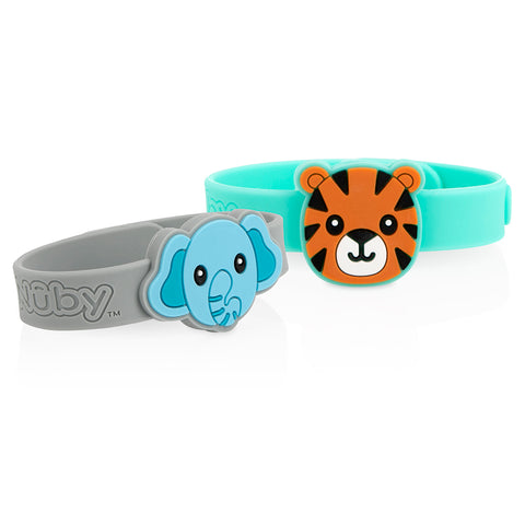 Nuby Mosquito Repellent Bracelets - Tiger & Elephant