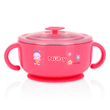 Nuby Stainless Steel Feeding Set - Pink (1)