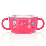 Nuby Stainless Steel Feeding Set - Pink (2)