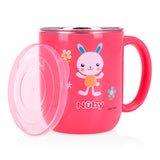 Nuby Stainless Steel Feeding Set - Pink (3)
