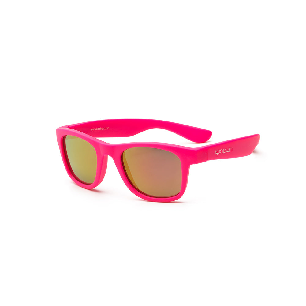 Koolsun Wave Kids Sunglasses - Neon Pink 3-10 yrs
