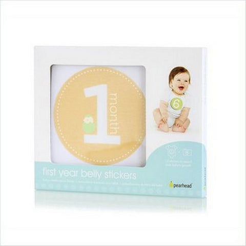 Pearhead First Year Belly Stickers - Natural