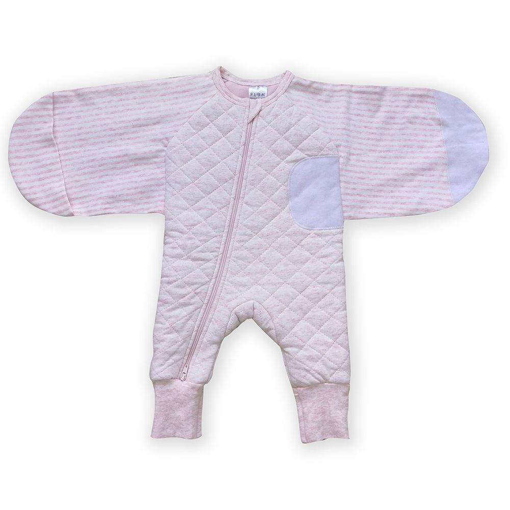 Plum Swaddle Suit 2.5 Tog Small - Pink Bear