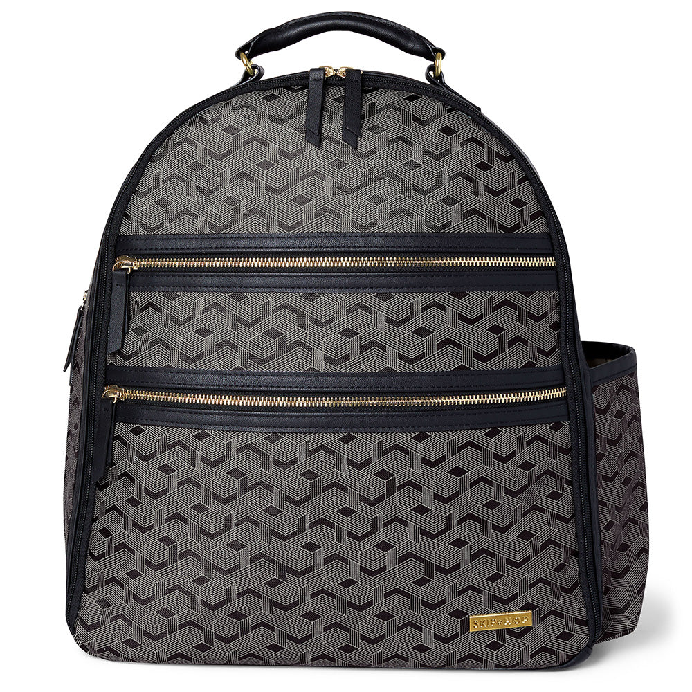 Skip Hop Deco Saffiano Backpack - Interweaved Lines