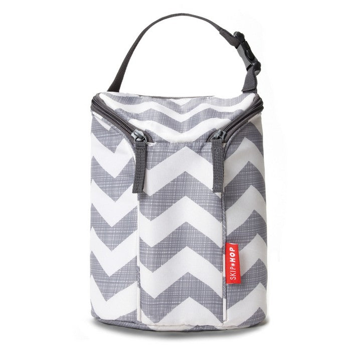 Skip Hop Grab & Go Double Bottle Bag - Chevron