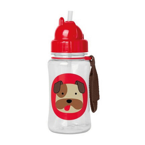 Skip Hop Zoo Winter Straw Bottle - Bulldog