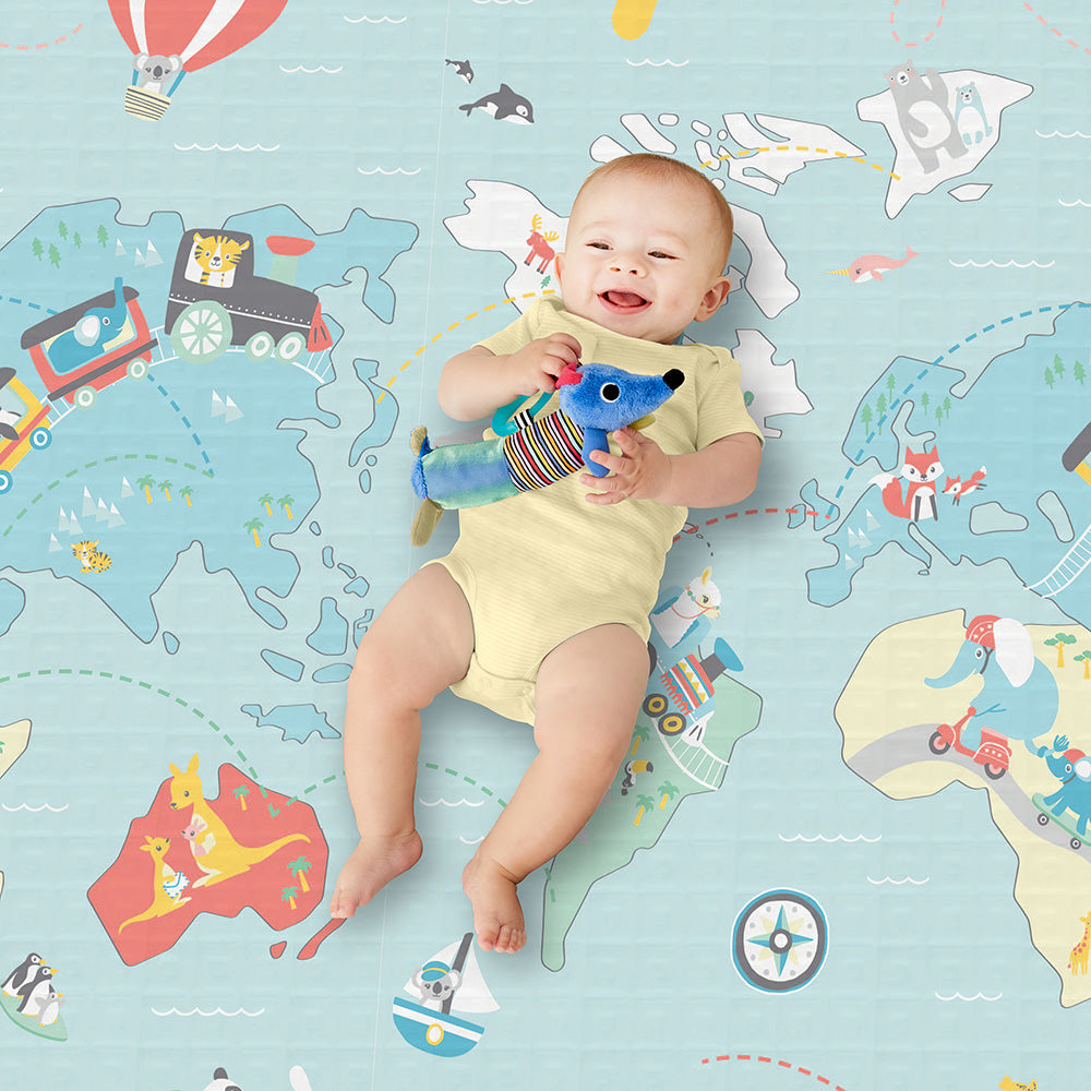 Skip Hop Doubleplay Reversible Playmat - Little Travelers (2)