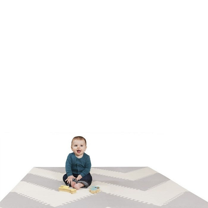 Skip Hop Playspot Geo Foam Floor Tiles - Grey/Gream (1)
