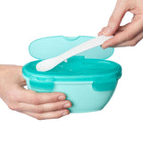 Skip Hop Easy-Serve Travel Bowl & Spoon - Grey/Soft Teal (1)