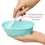 Skip Hop Easy-Serve Travel Bowl & Spoon - Grey/Soft Teal (2)