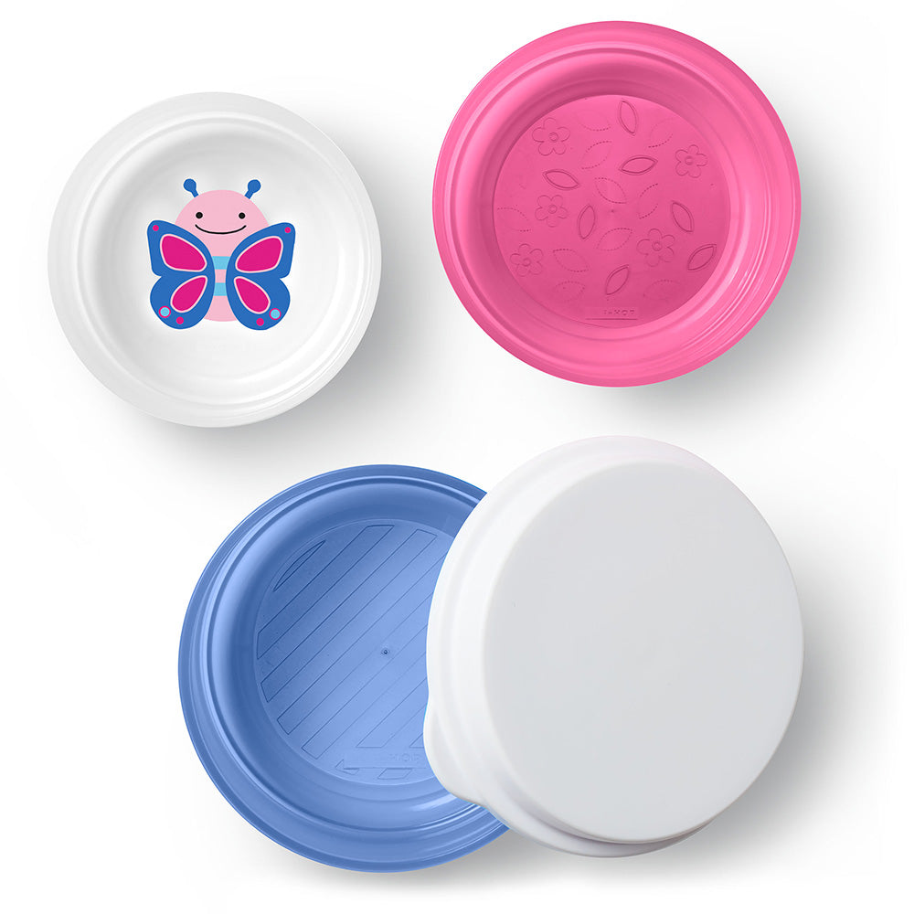 Skip Hop Zoo Smart Serve Non-Slip Bowls - Butterfly
