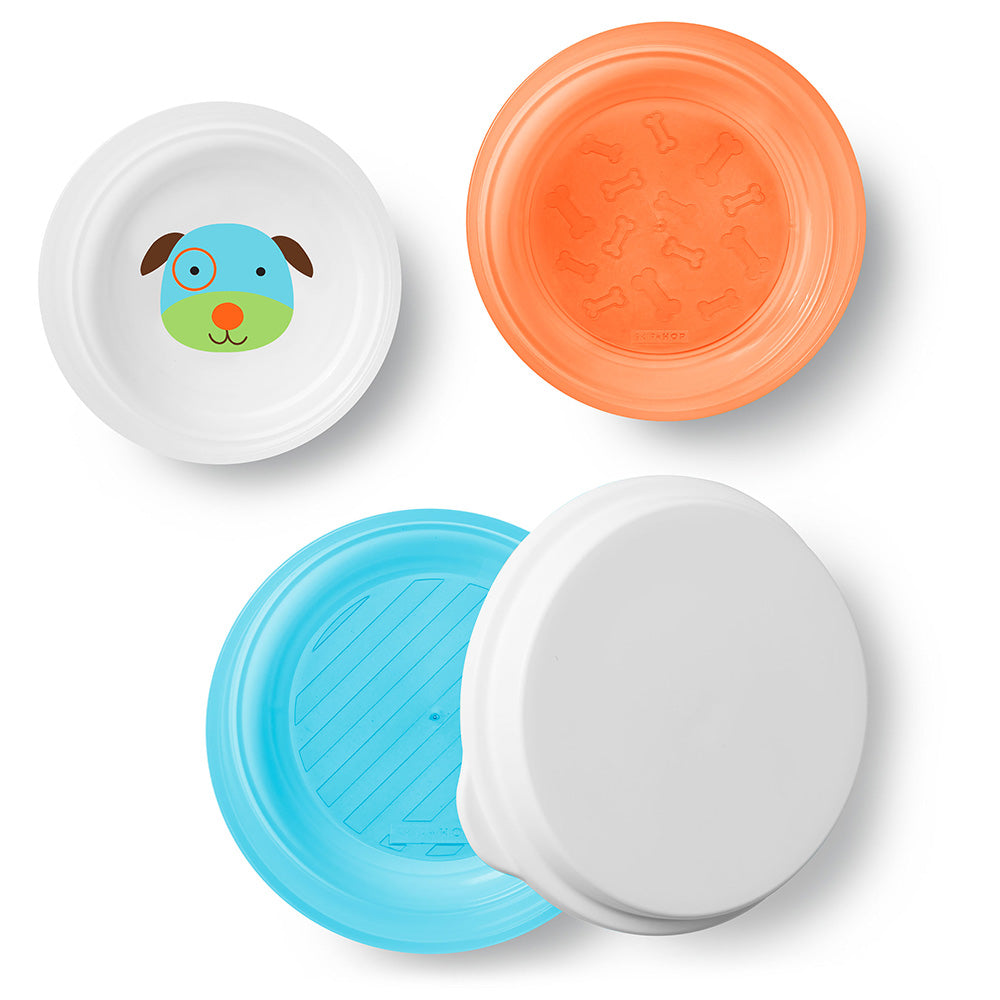 Skip Hop Zoo Smart Serve Non-Slip Bowls - Dog