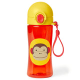Skip Hop Zoo Lock-Top Sports Bottle (with hand strap) - Monkey