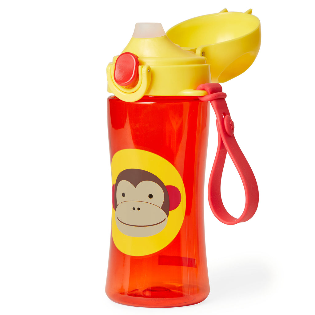 Skip Hop Zoo Lock-Top Sports Bottle (with hand strap) - Monkey (1)