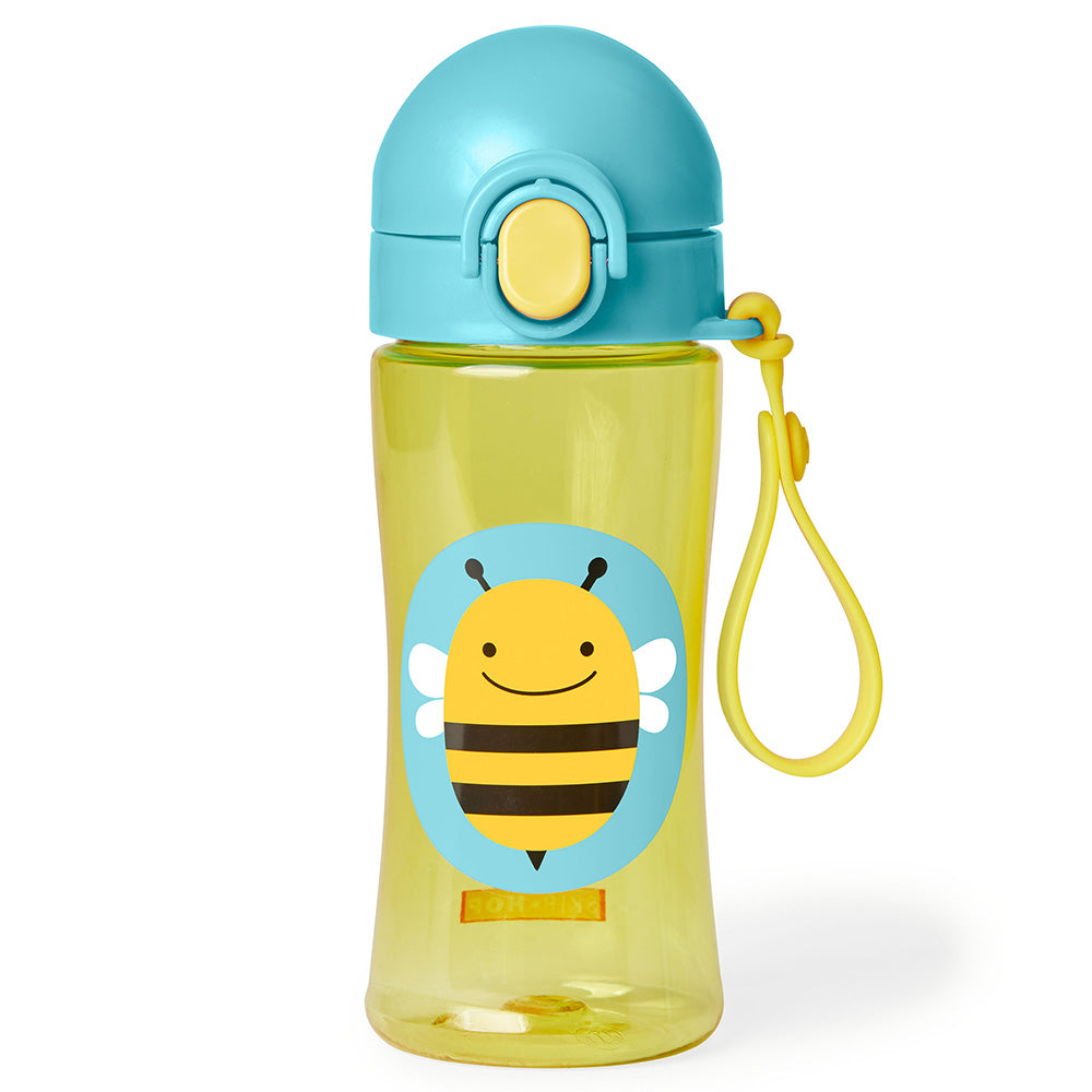 Skip Hop Zoo Lock-Top Sports Bottle (with hand strap) - Bee