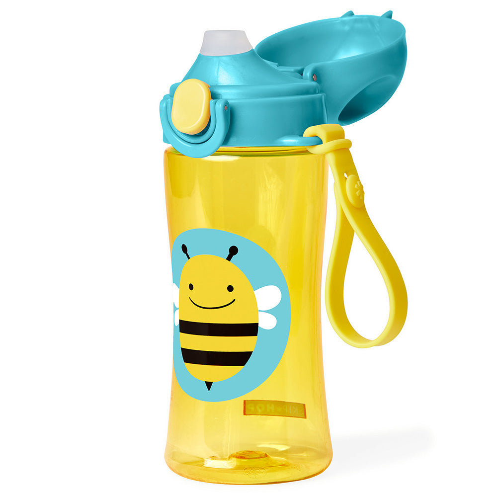 Skip Hop Zoo Lock-Top Sports Bottle (with hand strap) - Bee (1)
