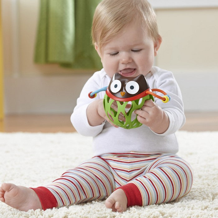 Skip Hop Explore & More Roll-Around Rattles - Owl (1)