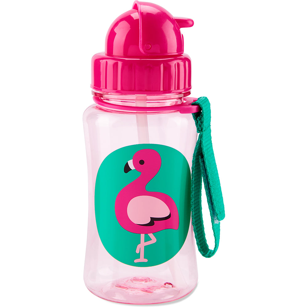 Skip Hop Zoo Straw Bottle - Flamingo