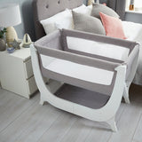 Shnuggle Air Bedside Crib - Dove Grey (1)